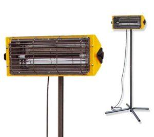 Инфрачервен електрически отоплител със стойка