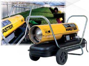 Бездимни дизелови калорифери 29 kW 40 kW MASTER