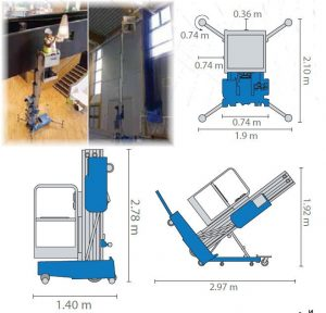 Самоходна вишка GENIE AWP-30 - 11 m