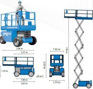 Самоходна вишка GENIE GS 3268 – 12m (акумулаторни)