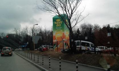 Рекламна кула за натурален сок от allroad