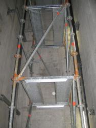 Скеле за асансьорни шахти - Литекс Тауър