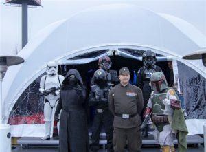 Подиум от Стройрент за Star Wars събитието на Кауфланд