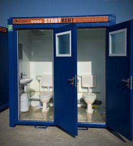 Санитарен контейнер под наем душ/WC/комбиниран